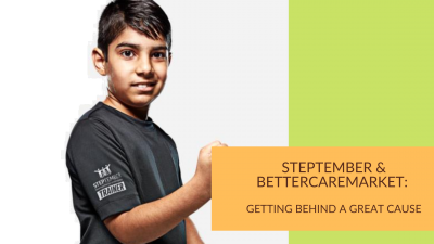 Steptember & Bettercaremarket: getting behind a great cause
